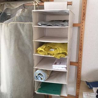ムジルシリョウヒン(MUJI (無印良品))の無印良品 吊り下げ収納ハンギングラック 布製 美品(押し入れ収納/ハンガー)