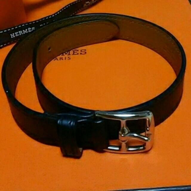 Hermes(エルメス)の予約済み  エルメス  ブレスレット 夏の黒、好きです(^^) レディースのアクセサリー(ブレスレット/バングル)の商品写真