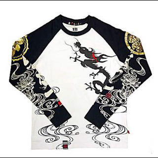 処分★定価7,245円★参丸一 龍水ラグランロンT 長袖Tシャツ XXL(Tシャツ(長袖/七分))