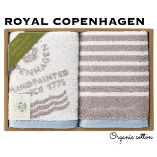 ロイヤルコペンハーゲン(ROYAL COPENHAGEN)のROYAL COPENHAGEN ロゴデザイン オーガニック フェイスタオル(タオル/バス用品)