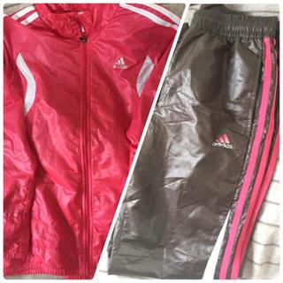 アディダス(adidas)のアディダス スポーツウエア 上下セット♡ピンク&ブラウンの可愛いジャージ♡(その他)