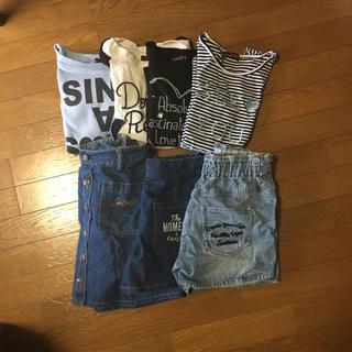 ラブトキシック(lovetoxic)のLovetoxic、長T、半袖Tシャツ、デニムショートパンツ、サス付きスカート(カットソー(長袖/七分))