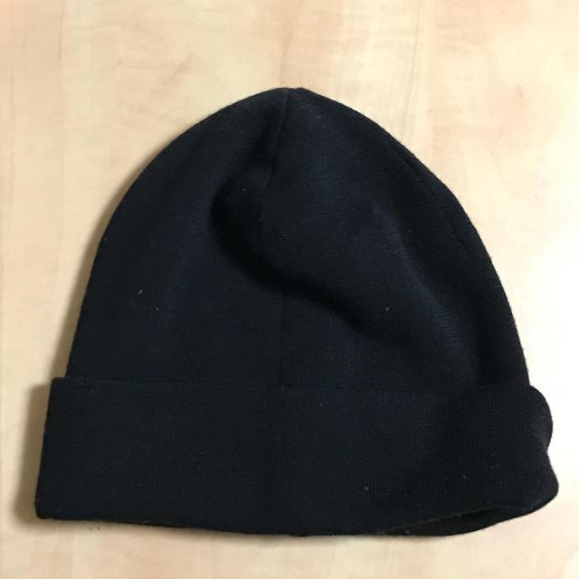 DKNY WOMEN(ダナキャランニューヨークウィメン)のDKNY ニット帽 黒 オープニングセレモニーで購入 レディースの帽子(ニット帽/ビーニー)の商品写真