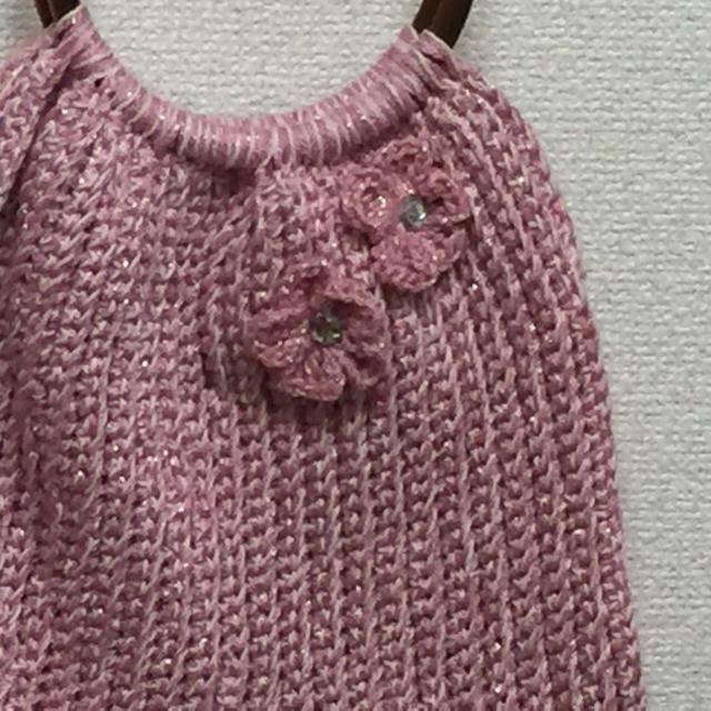 春物 手編みバック ハンドメイドのファッション小物(バッグ)の商品写真