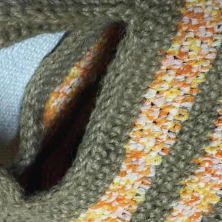 麻紐バック ハンドメイドのファッション小物(バッグ)の商品写真