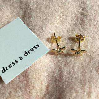 dress a dress ピアス 花 フラワー 18金ゴールド【定価以下】