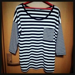 ジーユー(GU)のボ-ダ-ロンT(Tシャツ(長袖/七分))