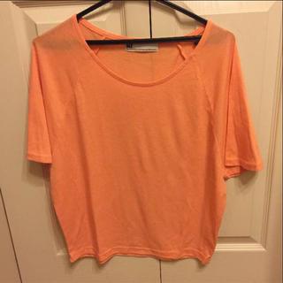スライ(SLY)のSLY スライ ティーシャツ Tシャツ オレンジ ピンク コーラル 半袖(Tシャツ(半袖/袖なし))