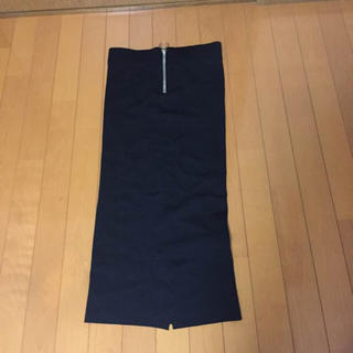 ザラ(ZARA)のZARA..ジップ付きチューブスカート(ひざ丈スカート)