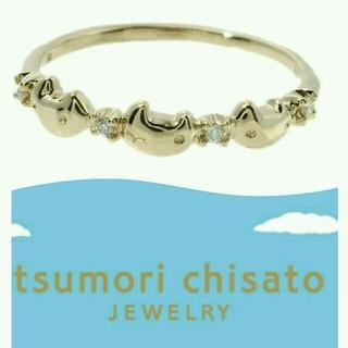 ツモリチサト(TSUMORI CHISATO)の新品☆3匹のにゃんこ10K×ダイヤのピンキーリングはツモリチサトジュエリー  (リング(指輪))