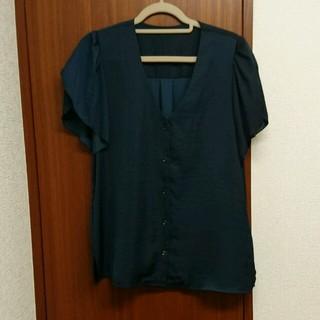 ジーユー(GU)のGu シルク風ブラウス(シャツ/ブラウス(半袖/袖なし))