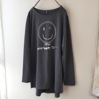 ルカ(LUCA)の新品 LUCA購入スマイルパール ロンTシャツ チェニックワンピース(Tシャツ(長袖/七分))
