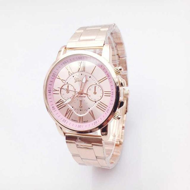 大特価セール! ピンクゴールド 腕時計 文字盤:ベビーピンク メンズの時計(腕時計(アナログ))の商品写真