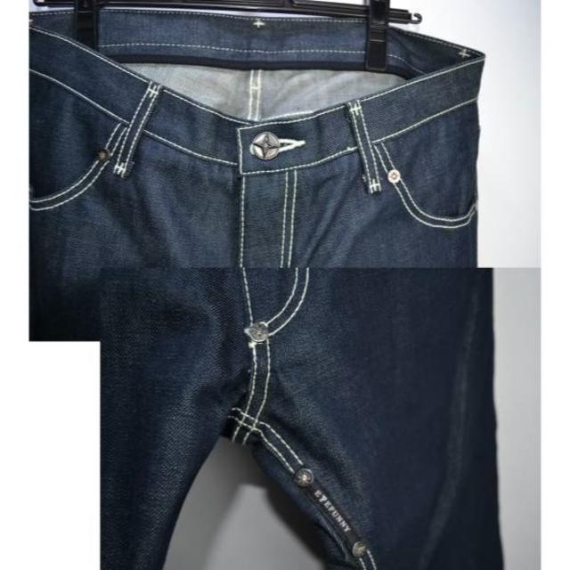 EYEFUNNY(アイファニー)のA02875/EYEFUNNYアイファニーダイヤモンドリベットデニムパンツ メンズのパンツ(デニム/ジーンズ)の商品写真