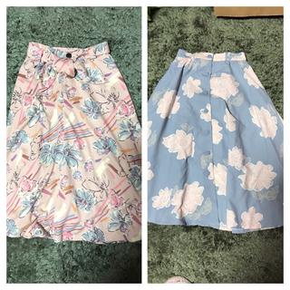 リズリサ(LIZ LISA)のララ様専用♡花柄ひざ下丈スカート2点(ひざ丈スカート)