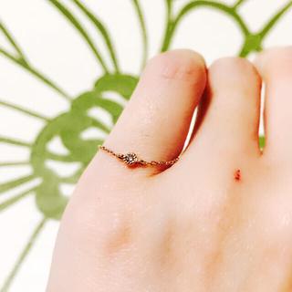エテ(ete)のete♡ブラウンダイヤチェーンリング♡美品♡(リング(指輪))