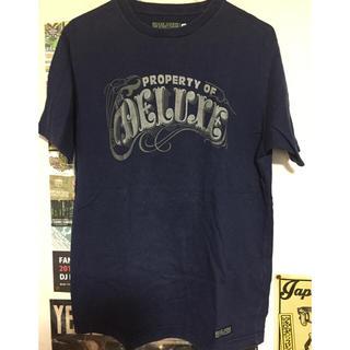 デラックス(DELUXE)のDELUXE ネイビーTEE(Tシャツ/カットソー(半袖/袖なし))