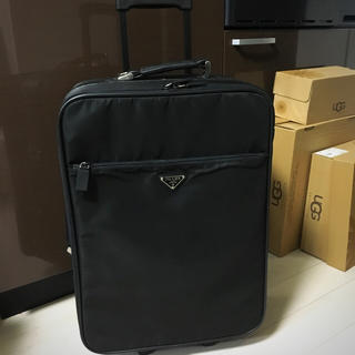 プラダ(PRADA)のe_0343様専用ページ❗️正規品プラダ キャリーケース 男女兼用 ロゴプレート(スーツケース/キャリーバッグ)