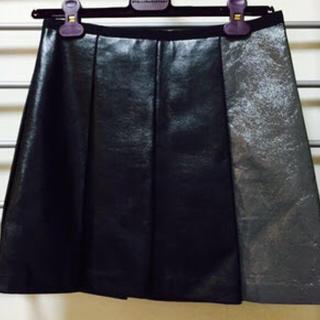 サカイラック(sacai luck)の【sacai】(超美品)サカイ フェイクレザースカート(ミニスカート)