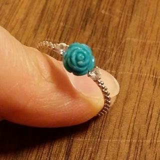 ターコイズ 薔薇のリング。(リング(指輪))