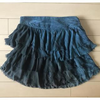 ジプシー05(Gypsy 05)のGypsy05 ジプシー シルクティアードミニスカート 試着のみ Sサイズ(ミニスカート)