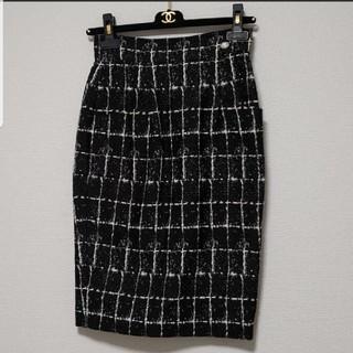 シャネル(CHANEL)のCHANEL♡チェックタイトスカート(ひざ丈スカート)