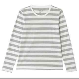 ムジルシリョウヒン(MUJI (無印良品))の無印良品 オーガニックコットンボーダーTシャツ(Tシャツ(長袖/七分))