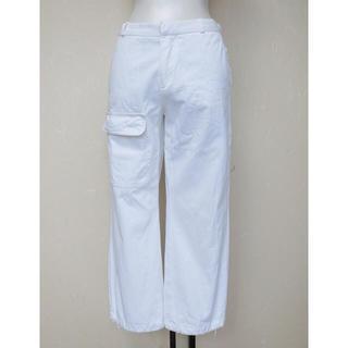 ジョセフエロール(JOSEPH EREUIL)のJOSEPHジョセフ 白で裾にヒモ付きの8分丈パンツXS(カジュアルパンツ)