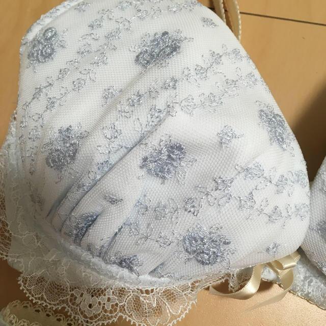 Risa Magli(リサマリ)のブルーブラセット ブラ&パンツセット 水色 フリル リサマリ レディースの下着/アンダーウェア(ブラ&ショーツセット)の商品写真