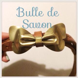 ビュルデサボン(bulle de savon)のbulledesavonリボンベルト新品(ベルト)