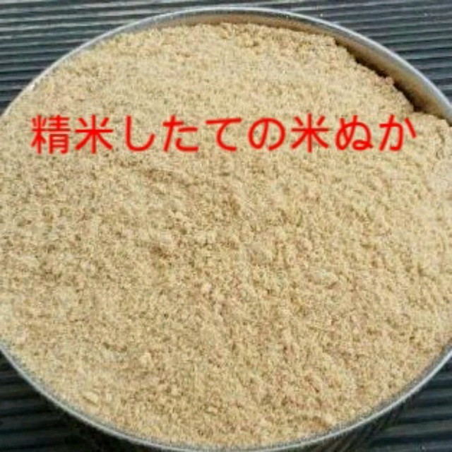 精米したてのぬか10kg 食品/飲料/酒の食品(米/穀物)の商品写真