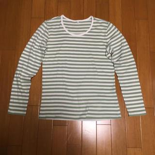 ムジルシリョウヒン(MUJI (無印良品))の無印良品  長袖ボーダー サイズXL(Tシャツ(長袖/七分))