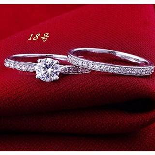 2連リング レディース 指輪 ジルコニアダイヤ(リング(指輪))