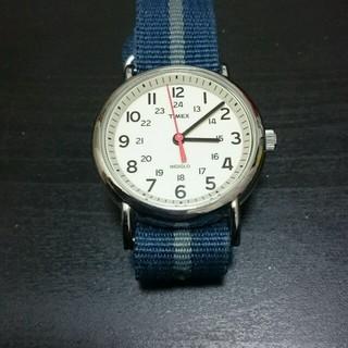 タイメックス(TIMEX)のTIMEX ウィークエンダー クリーム×ネイビー/グレー(腕時計(アナログ))