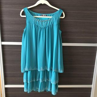 ルスーク(Le souk)のルスーク エメラルドグリーン ドレス(ミディアムドレス)