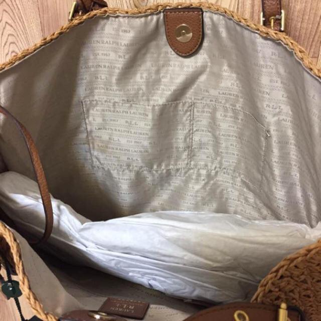 Ralph Lauren(ラルフローレン)の日本未発売! 新作! ラルフローレン タッセル かごバッグ  大容量 ラージ レディースのバッグ(かごバッグ/ストローバッグ)の商品写真