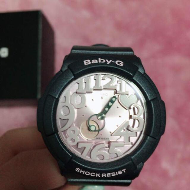 Baby-G(ベビージー)のベイビージー Baby-G 腕時計 グレー ピンク ハート 時計 ジーショック メンズの時計(腕時計(デジタル))の商品写真