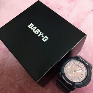 ベビージー(Baby-G)のベイビージー Baby-G 腕時計 グレー ピンク ハート 時計 ジーショック(腕時計(デジタル))