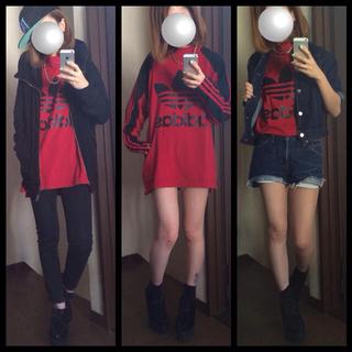 アディダス(adidas)のadidasロゴ◆メンズサイズロンT◆(Tシャツ(長袖/七分))