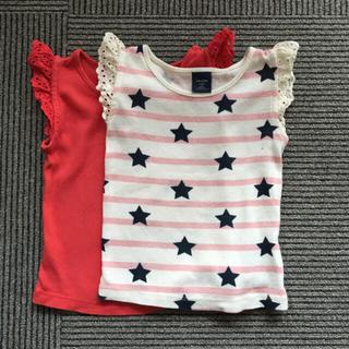 ギャップ(GAP)の【星ドットのみ1枚】フリフリトップス 90cm(Tシャツ/カットソー)