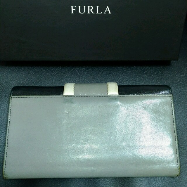 the latest bfa30 23317 FURLA フルラ長財布 黒&グレー 箱付