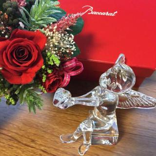 バカラ(Baccarat)の年末値下げ♡新品☆バカラクリスタル ハートを捧げ持つ天使(置物)