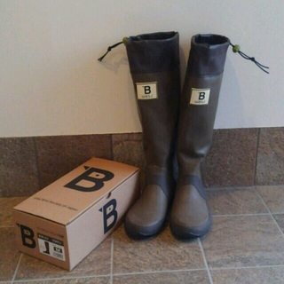 ねこ太郎さま専用 日本野鳥の会 レインブーツ ブラウン M(レインブーツ/長靴)