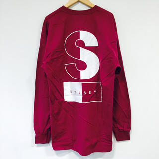 ステューシー(STUSSY)の新品 STUSSY ステューシー ビックロンT ピンクパープル XL メンズ(Tシャツ/カットソー(七分/長袖))
