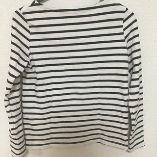 ジーユー(GU)のGU/長袖ボーダーボートネックTシャツ(Tシャツ(長袖/七分))