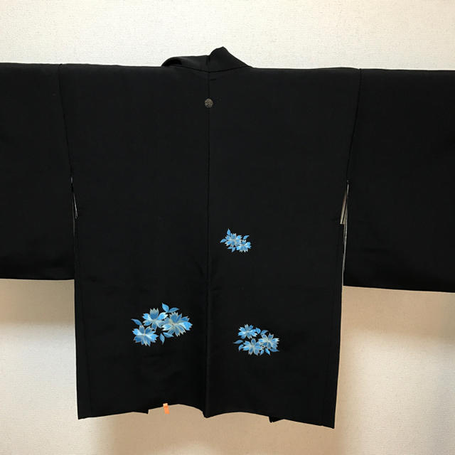 黒 絵羽織 パステルブルー レディースの水着/浴衣(着物)の商品写真