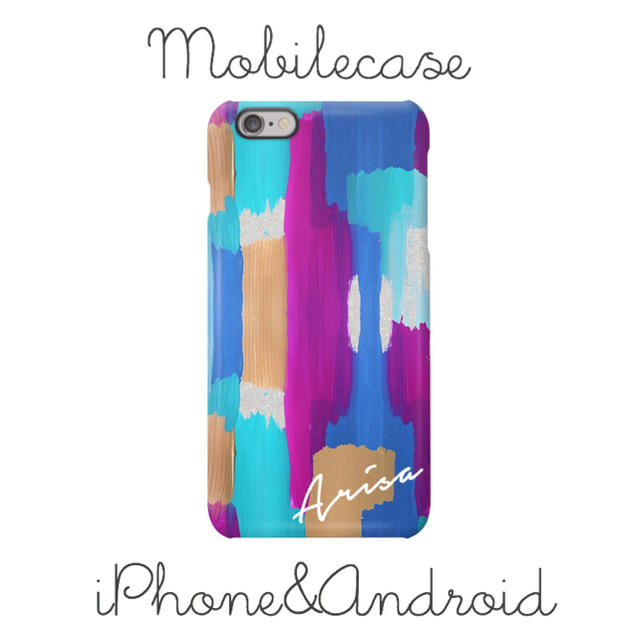 tory iphone8plus ケース レディース / 名入れ可能♡パープルアート柄スマホケース♡iPhone以外も対応機種多数あり♡の通販 by welina mahalo|ラクマ