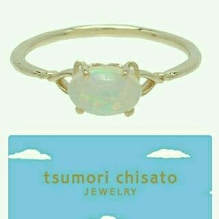 ツモリチサト(TSUMORI CHISATO)の新品☆にゃんことカボションカットオパール胸キュンリングはツモリチサトジュエリー(リング(指輪))