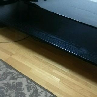 ブラックウッド ガラステーブル(ローテーブル)