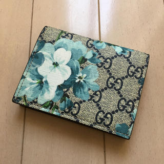 グッチ(Gucci)の送料無料!グッチGUCCIブルーブルームス財布カードケース(財布)